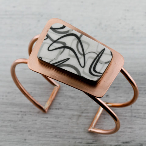 Boomerang laminate copper cuff