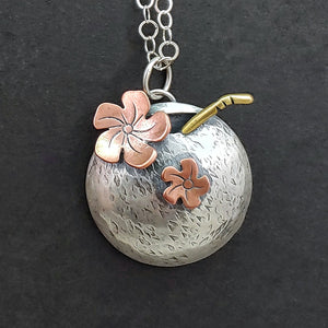 3D Coconut Drink Necklace