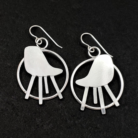 Eames Style Chair Earrings