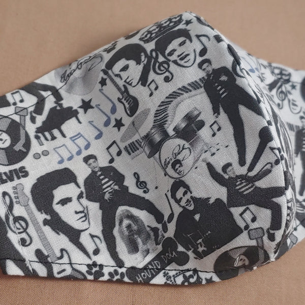 Elvis Hound Dog Fabric Face Mask