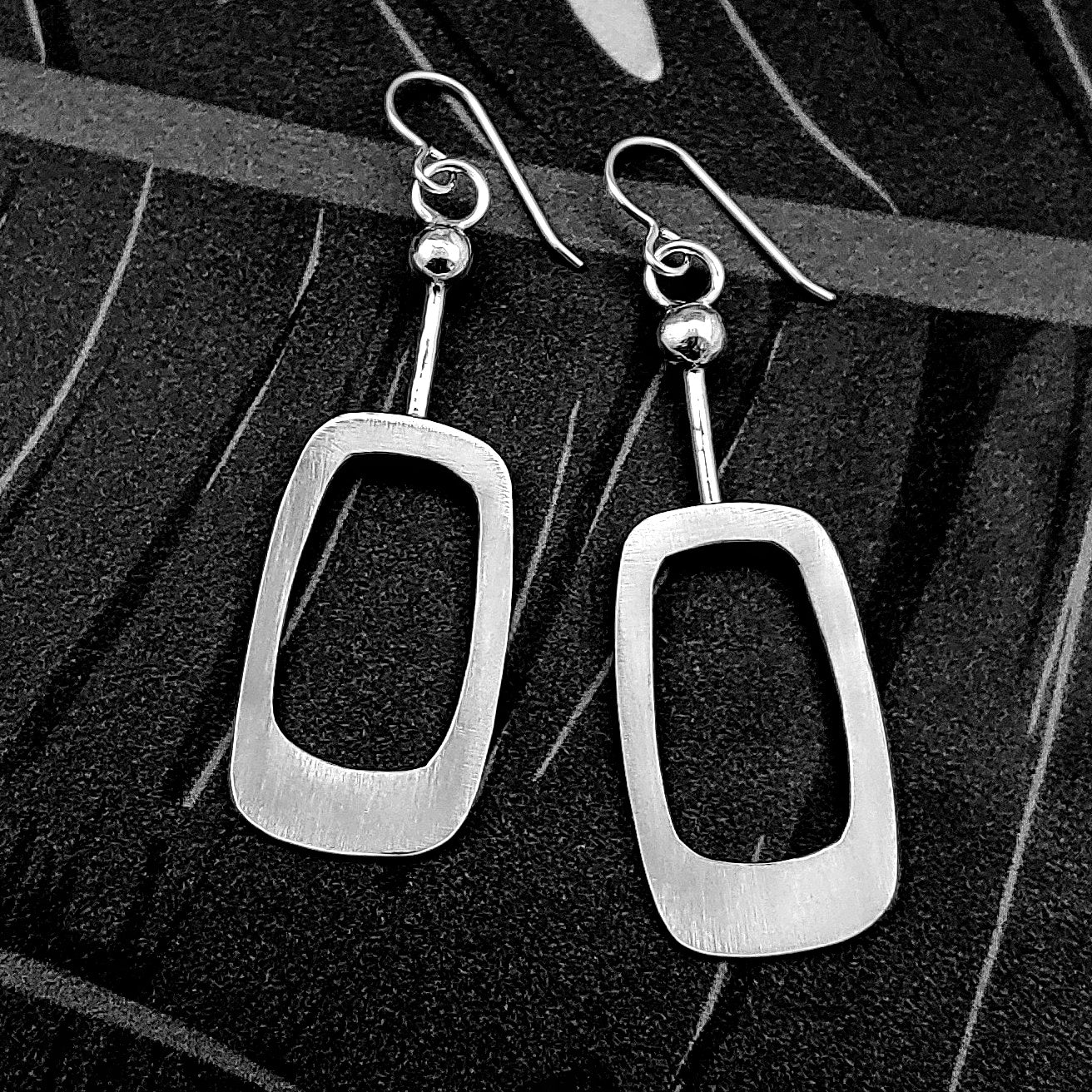 Soft Rectangle Dangle Earrings