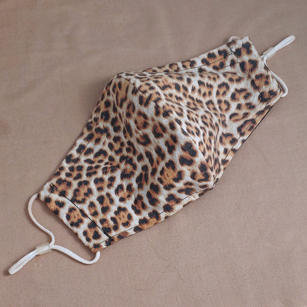 Leopard Print Fabric Face Mask