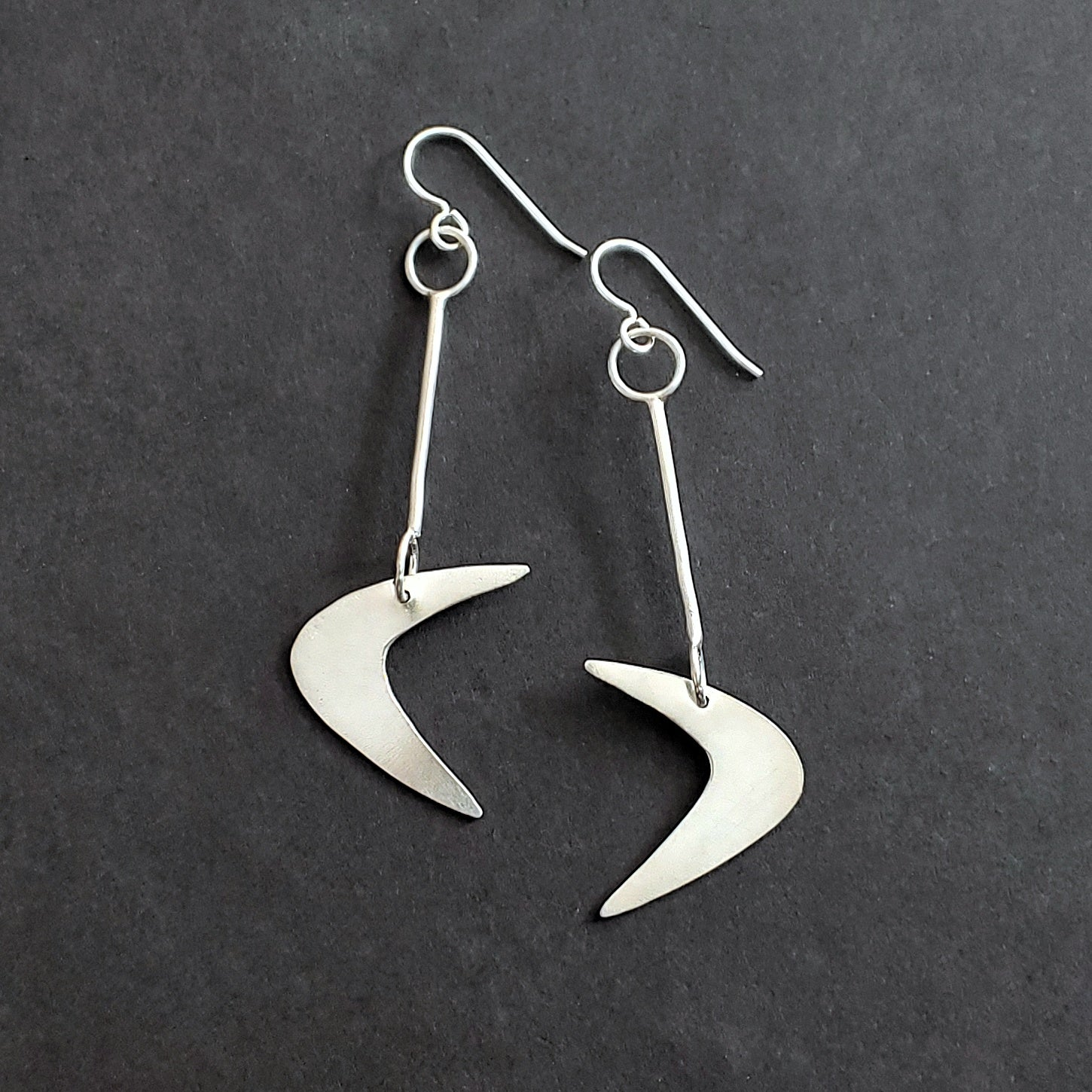 Sterling Silver Boomerang Earrings