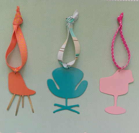 Retro Chairs Ornaments Set