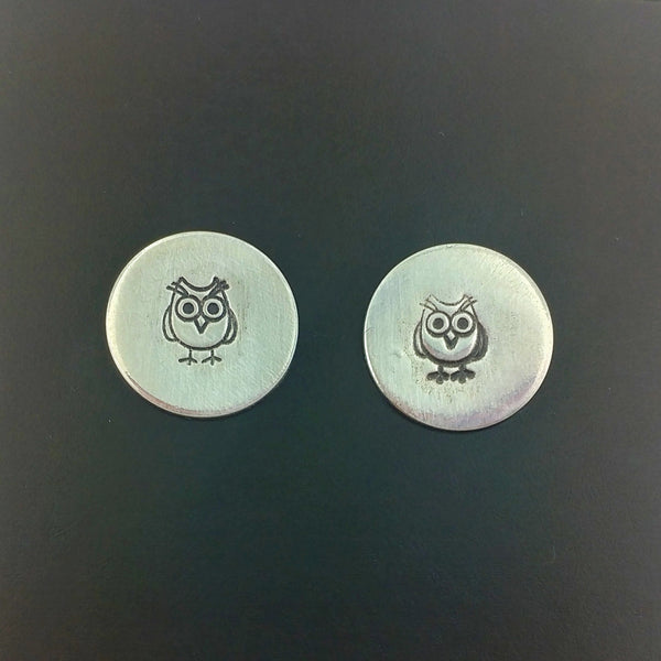 Owl Sterling Silver Stud Earrings