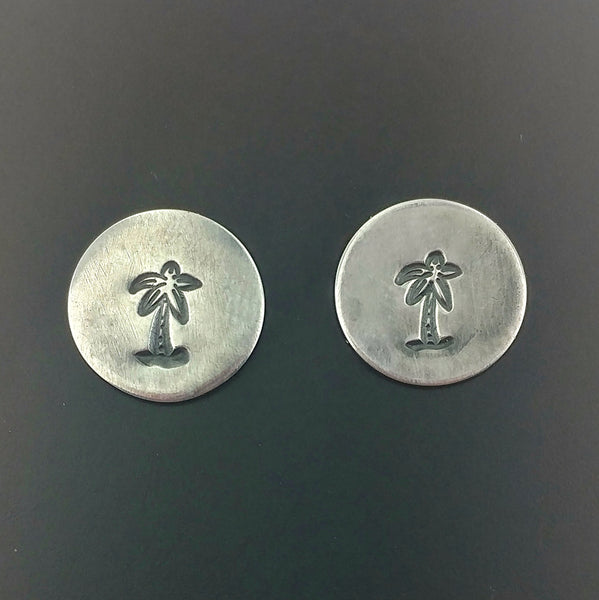 Palm Trees Sterling Silver Stud Earrings