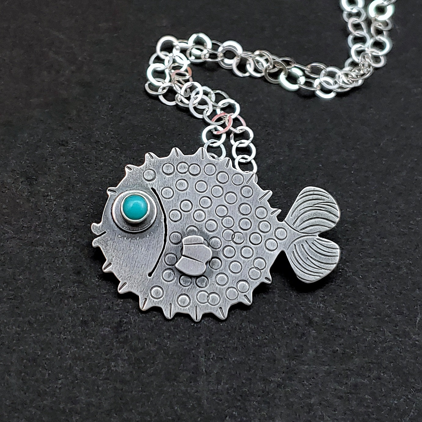 Puffer Fish Necklace