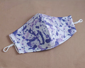 Purple Inkblot Fabric Face Mask