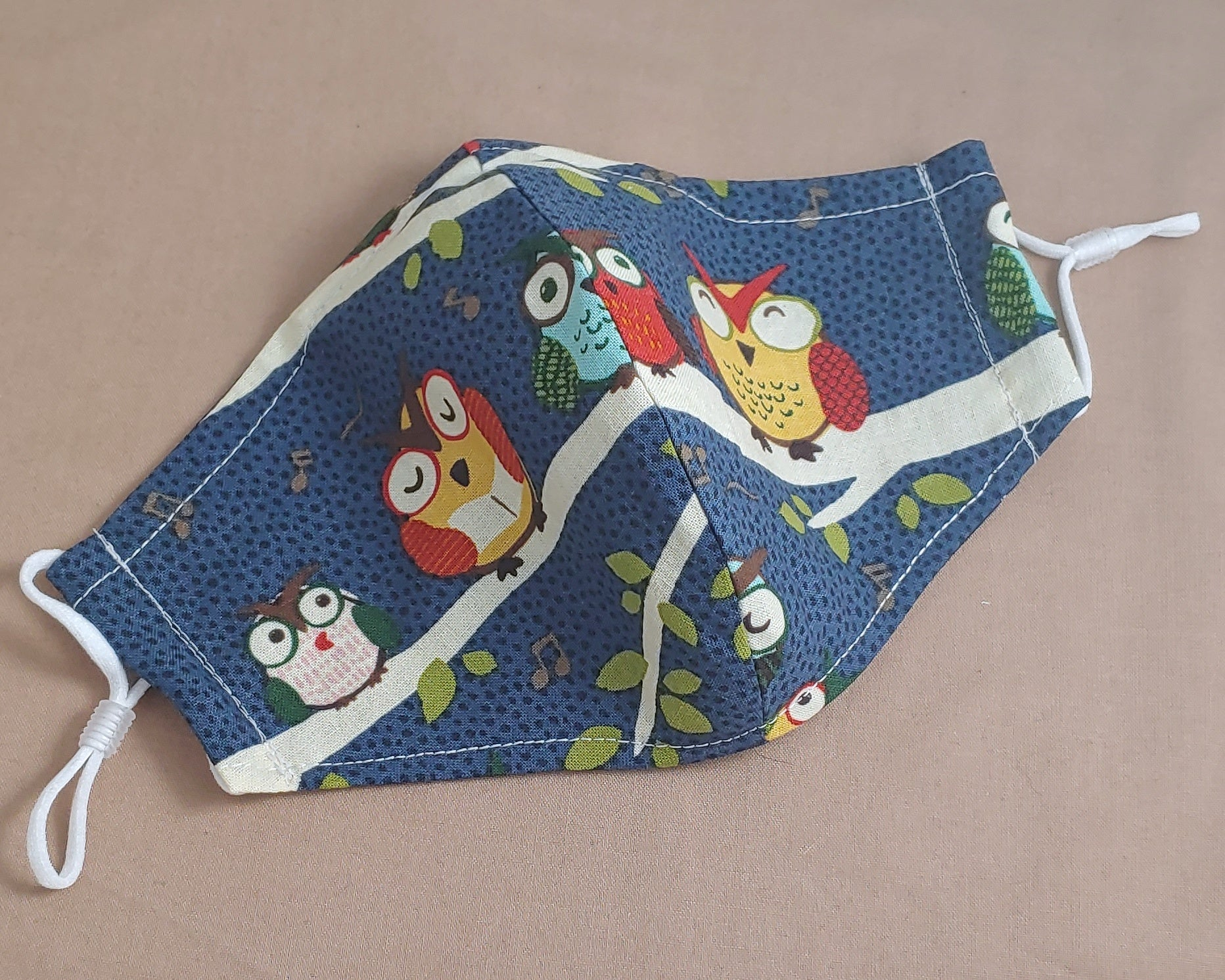 Owls Fabric Face Mask