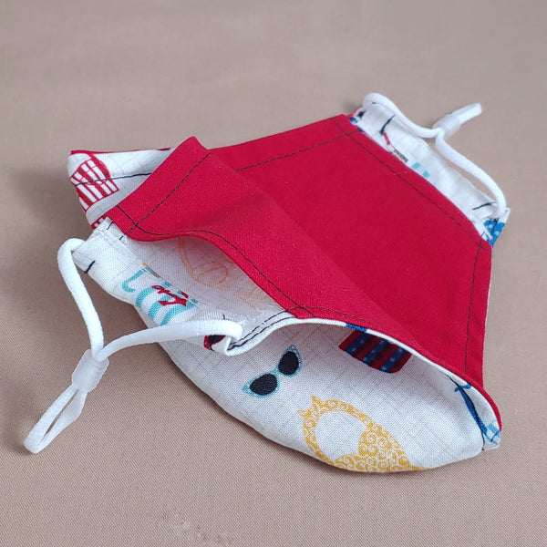 Retro Bathing Suit Fabric Face Mask