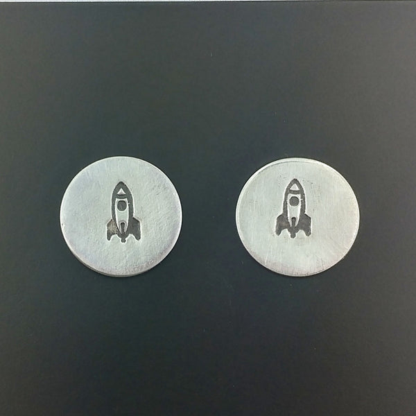Rocket Ship Stud Earrings