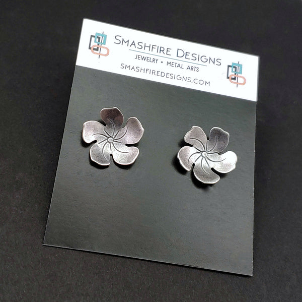 sterling silver studs on smashfire designs earring card