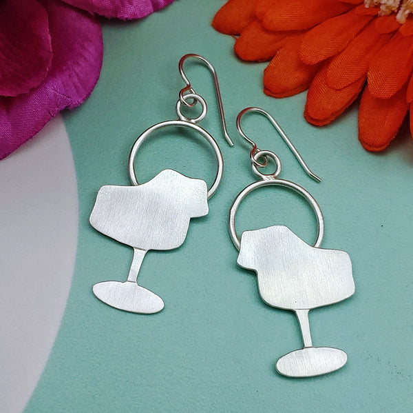 Tulip chair earrings in sterling silver mid mod furniture