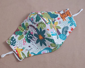 Rainforest Jungle Animals Fabric Face Mask