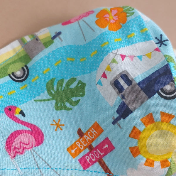 Tiki Road Trip Fabric Face Mask