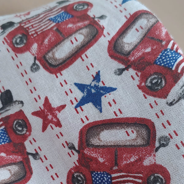 Vintage Truck Fabric Face Mask
