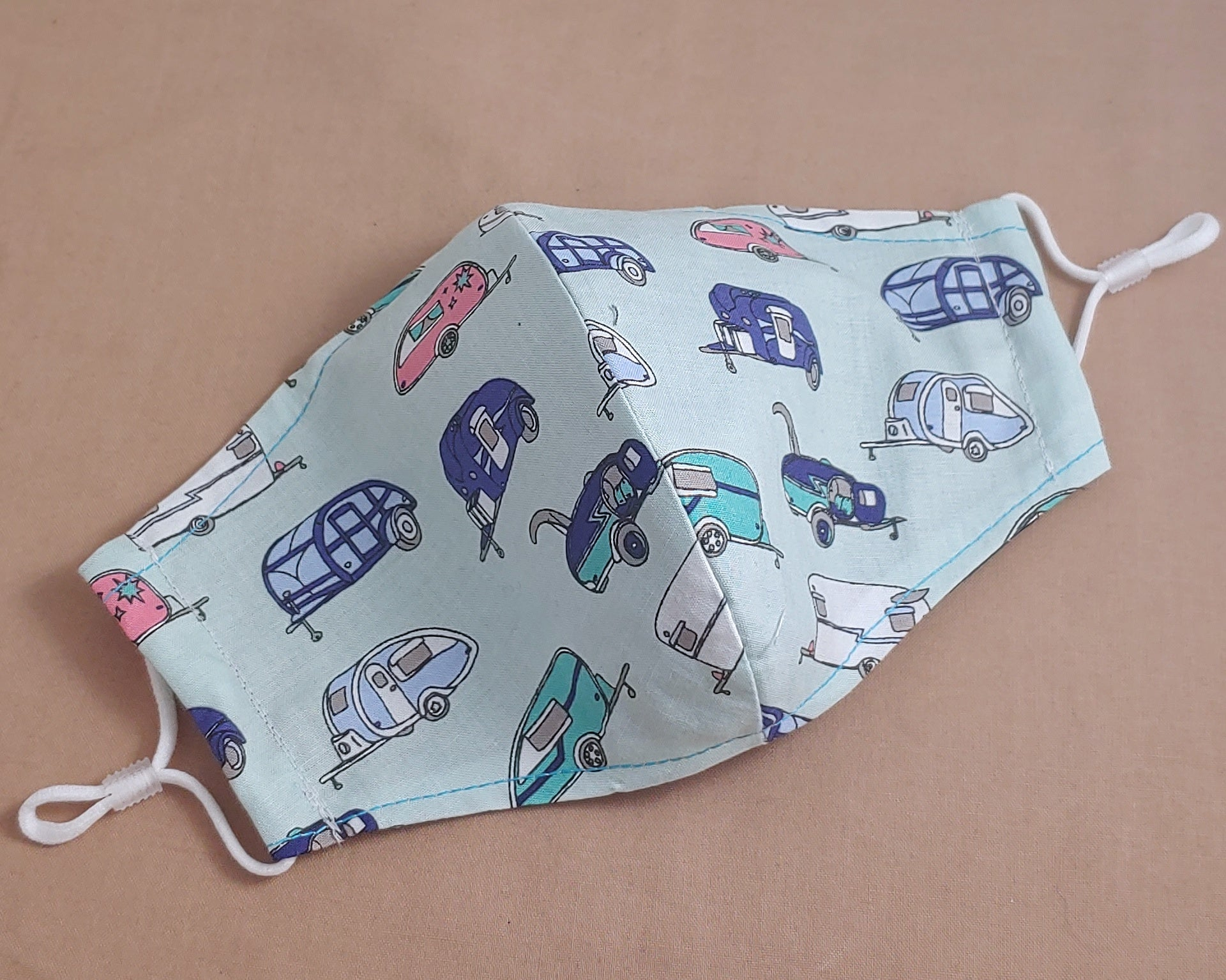 Vintage Campers Fabric Face Mask