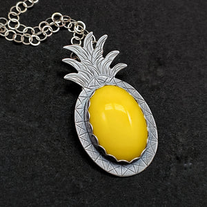 Pineapple Necklace - Yellow