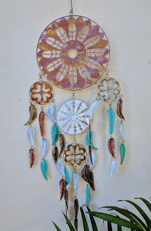 Metal Dreamcatcher 26cm circle 95cm in length
