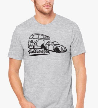 2019 New Arrival Men's Short Sleeve T Shirt  Hot Sale Beetle & Retro Old School T-Shirt Kombi VW AWESOME