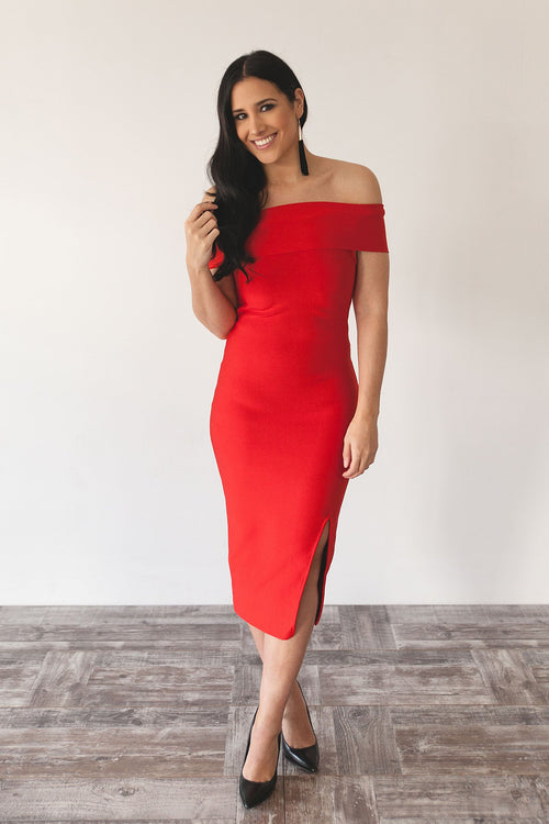 ADELE DRESS | RED