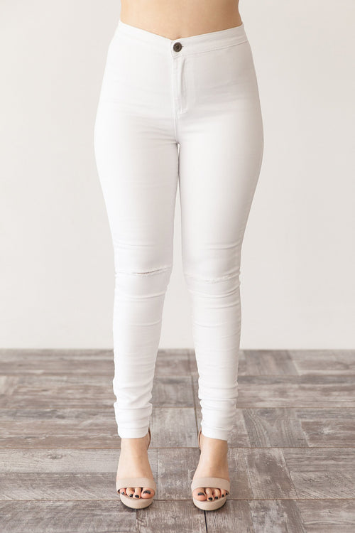 ELLIE RIPPED JEANS | WHITE