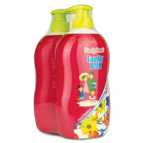 Ladyfirst Family Bath 800ml Floral Harmony Twin Pack - Living Proof