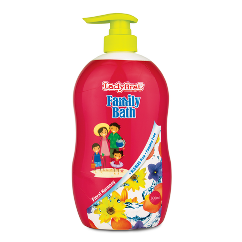 Ladyfirst Family Bath 800ml Floral Harmony Twin Pack