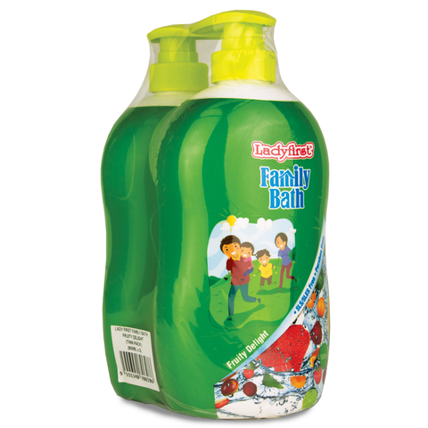 Ladyfirst Family Bath 800ml Fruity Delight Twin Pack - Living Proof