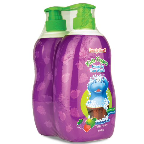 Ladyfirst Kids Yogurt 750ml Tutti Fruity Twin Pack - Living Proof