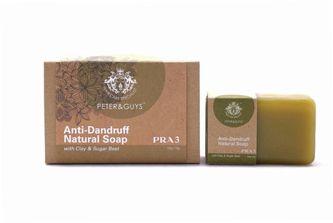 Peter & Guys Anti-Dandruff Natural Soap with Clay & Sugar Beet 100g±10g - Living Proof