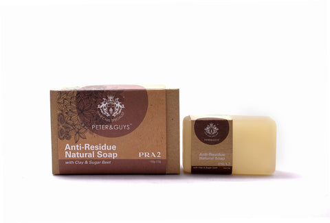 Peter & Guys Anti-Residue Natural Soap with Clay & Sugar Beet (100g±10g) - Living Proof