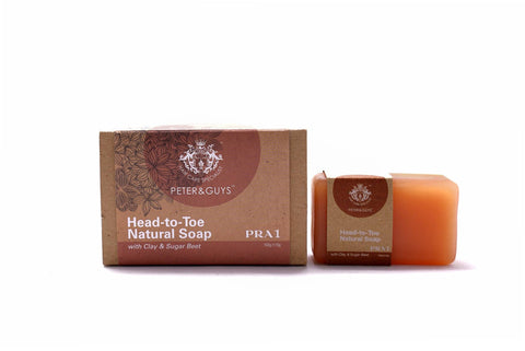 Peter & Guys Head-to-Toe Natural Soap with Clay & Sugar Beet 100g±10g - Living Proof
