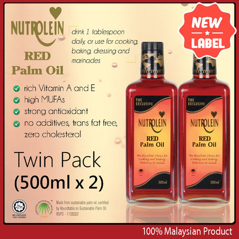Nutrolein Red Palm Oil  500ml Twin Pack