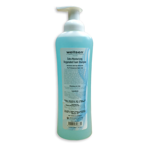 wellsen H2O Extra Moisturizing Oxygenated Foam Shampoo 750ml