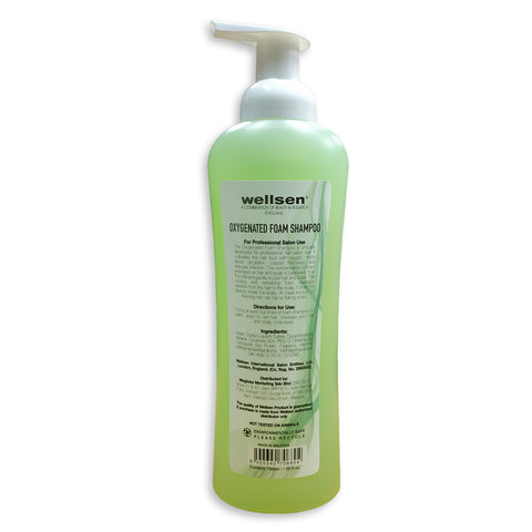 wellsen O2 Oxygenated Foam Shampoo 750ml