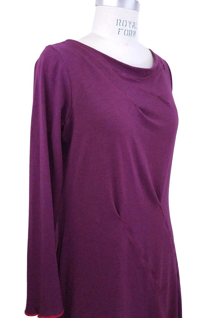 Cinderloop  beetroot red roam tunic front