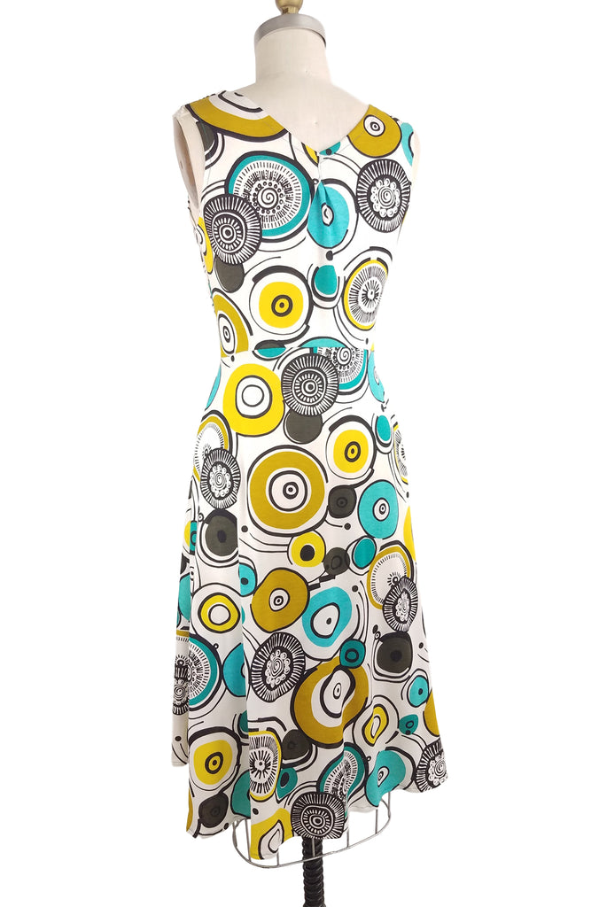 Cinderloop Camden Dress Circle Print back
