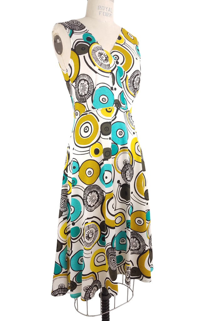 Cinderloop Camden Dress Circle Print front