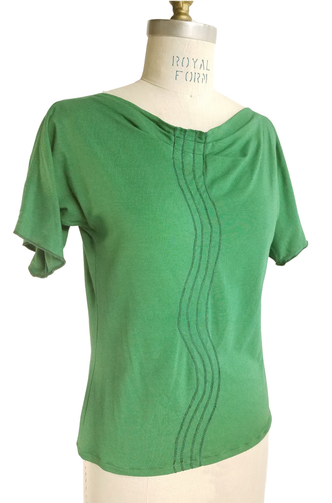 Cinderlop Wavy Line Top, fern green