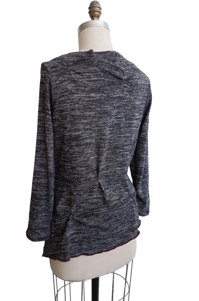 cinderloop funnel neck top, back