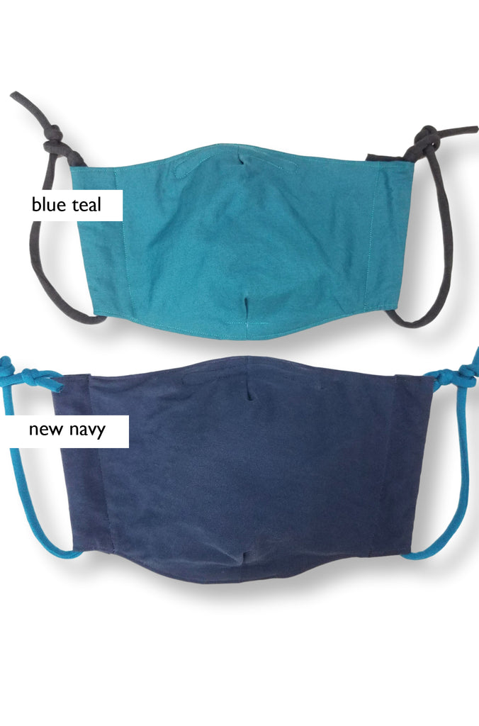 blue teal and new navy masks