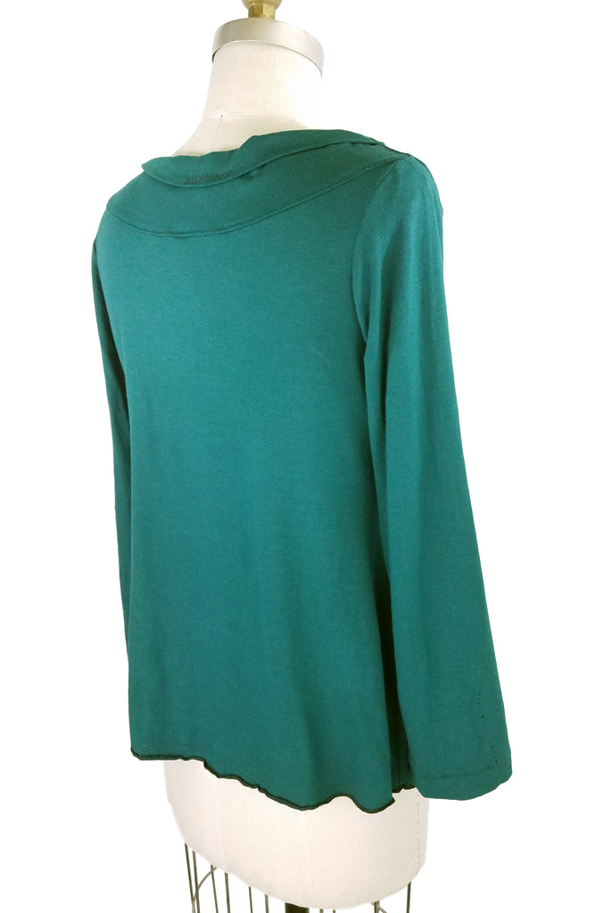 Cinderloop Pleat Top Emerald back
