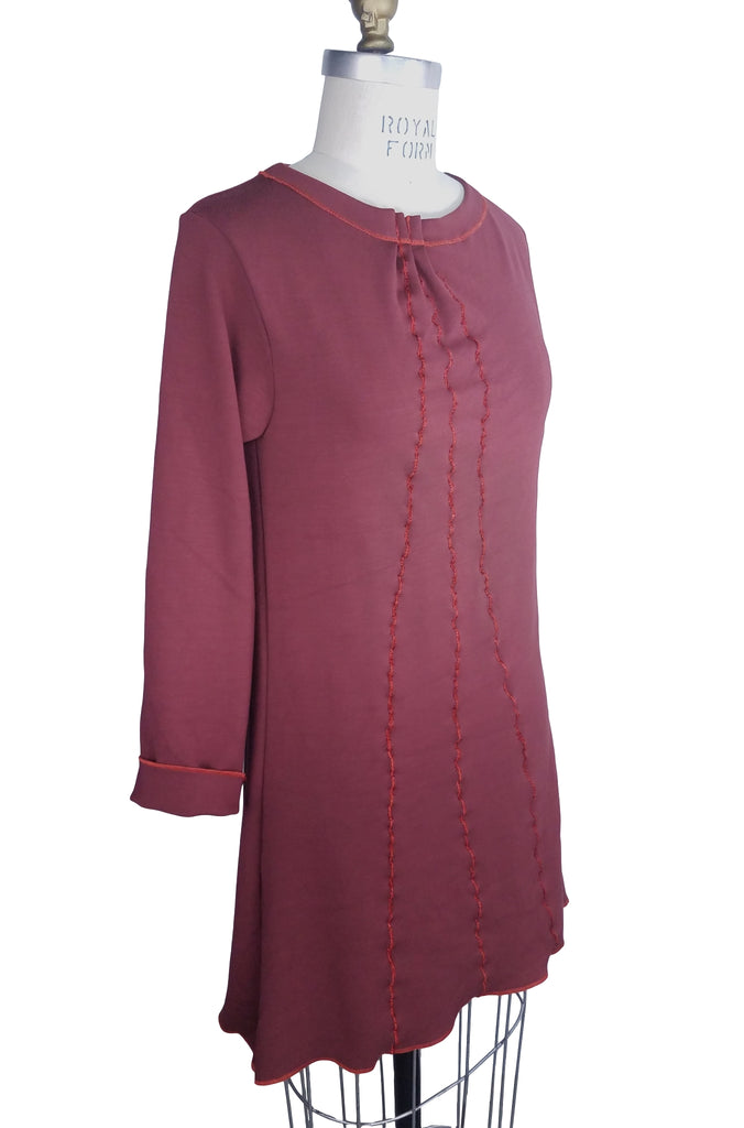 Cinderloop Wavy Line Tunic Rosewood front angle