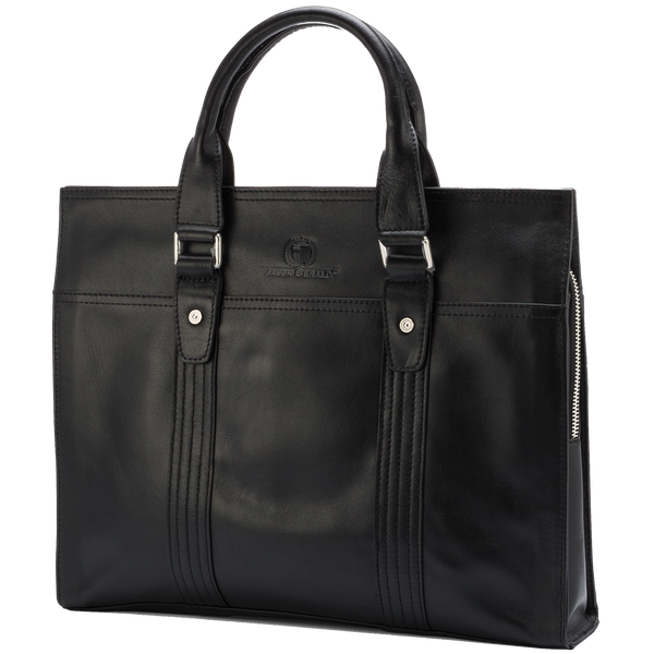14.5″ Leather Briefcase – 7179A - Jason Gerald