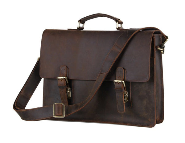 15.5 Leather Briefcase - 7223R-1 - Jason Gerald