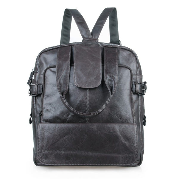 "12"" Leather Backpack - 7065I - Jason Gerald"
