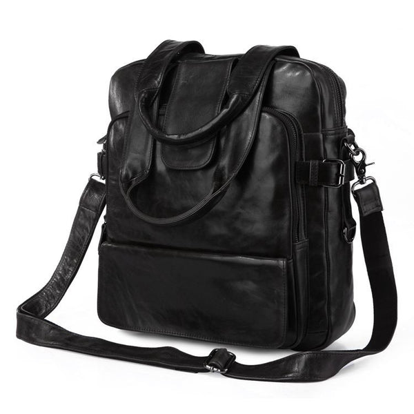 "12"" Leather Backpack - 7065J - Jason Gerald"