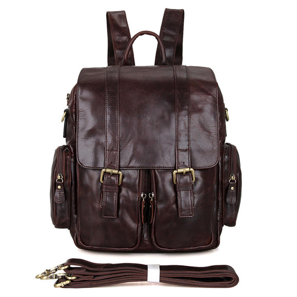 "12"" Leather Backpack - 7123C - Jason Gerald"