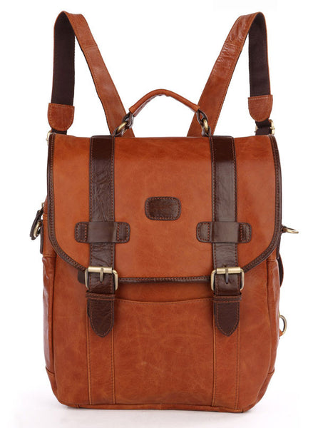 12″ Leather Backpack – 7163B - Jason Gerald